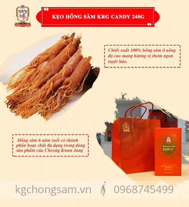 sản phẩm hồng sâm tiêu biểu của Cheong Kwan Jang