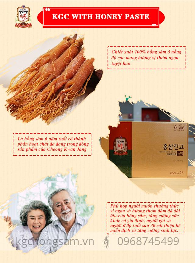 Ưu điểm vượt trội của Tinh chất hồng sâm và mật ong KGC