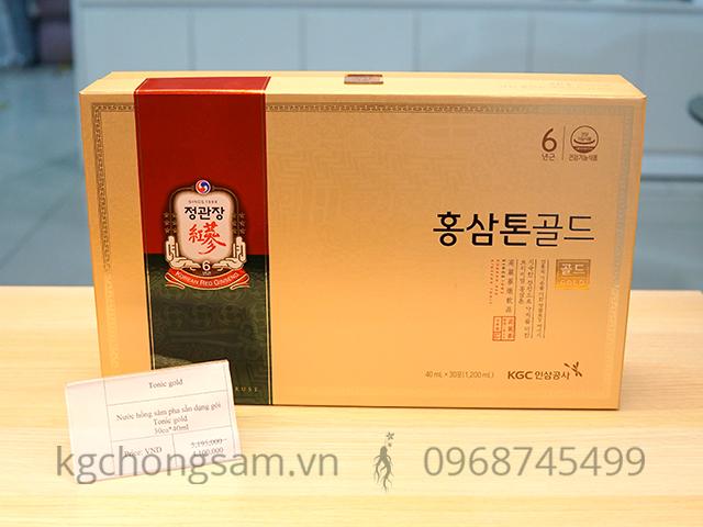 Nước hồng sâm cao cấp Tonic Gold Hàn Quốc